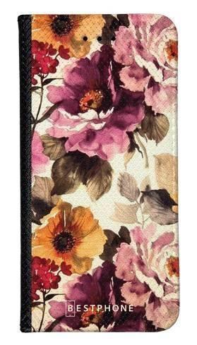 Portfel Wallet Case LG G8 ThinQ kwiaty akwarela