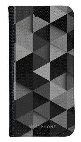 Portfel Wallet Case LG K40 czarne trójkąty