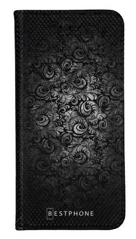 Portfel Wallet Case LG K40 czarne wzorki