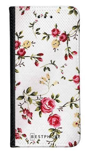 Portfel Wallet Case LG K40 haftowane kwiatki