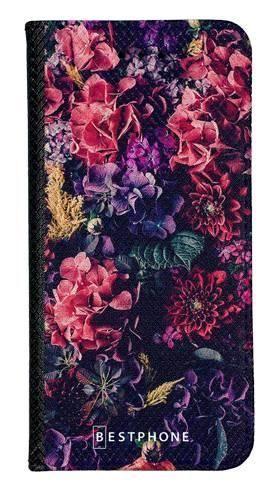 Portfel Wallet Case LG K40 kompozycja kwiatowa
