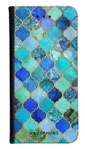 Portfel Wallet Case LG K40 niebieski płytki
