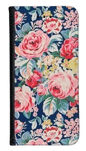 Portfel Wallet Case LG K40 niebieskie kwiaty vintage