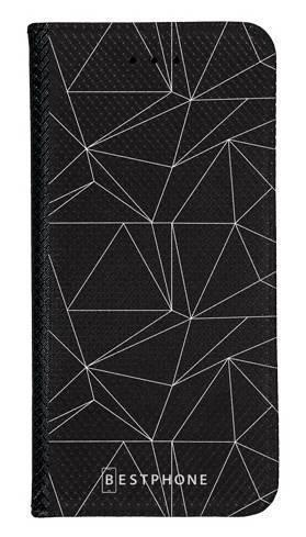 Portfel Wallet Case LG K40 trójkątny wzór biały