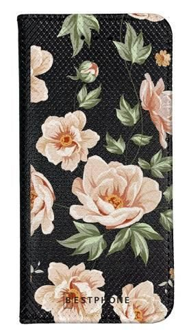 Portfel Wallet Case Samsung Galaxy A10e róże na czarnym