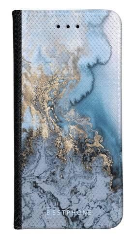 Portfel Wallet Case Samsung Galaxy A20e błękitny marmur