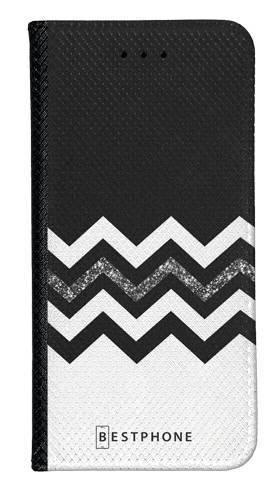Portfel Wallet Case Samsung Galaxy A5 biało czarny szlaczek