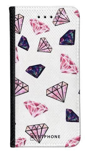 Portfel Wallet Case Samsung Galaxy A5 różowe diamenty