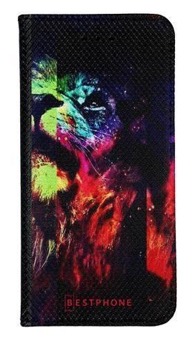 Portfel Wallet Case Samsung Galaxy A60 kolorowy lew