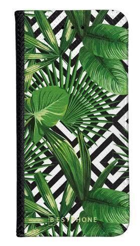Portfel Wallet Case Samsung Galaxy A60 kwiaty tropikalne geometryczne