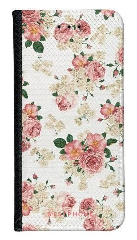 Portfel Wallet Case Samsung Galaxy Core Prime beżowe kwiatki