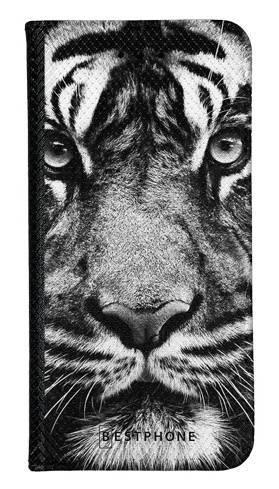 Portfel Wallet Case Samsung Galaxy Core Prime czarno biały tygrys