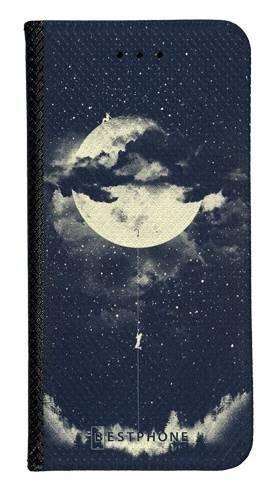Portfel Wallet Case Samsung Galaxy Core Prime księżyc