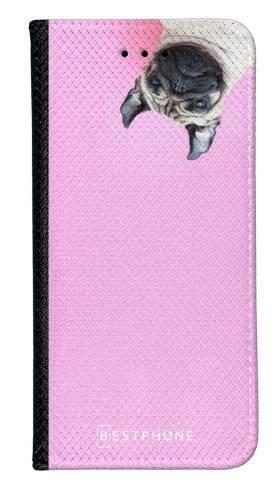 Portfel Wallet Case Samsung Galaxy Core Prime mops na różowym