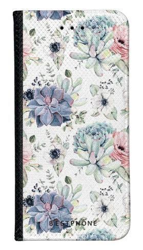 Portfel Wallet Case Samsung Galaxy Core Prime pastelowe kwiatki