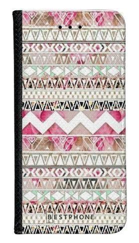 Portfel Wallet Case Samsung Galaxy Core Prime różowy aztec