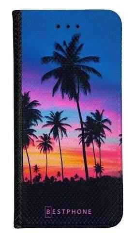 Portfel Wallet Case Samsung Galaxy Core Prime wieczorne palmy