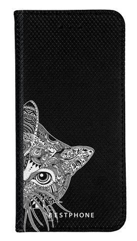 Portfel Wallet Case Samsung Galaxy Note 10 Pro biało czarny kot