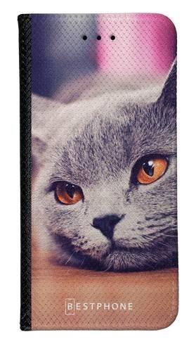 Portfel Wallet Case Samsung Galaxy Note 10 lazy cat