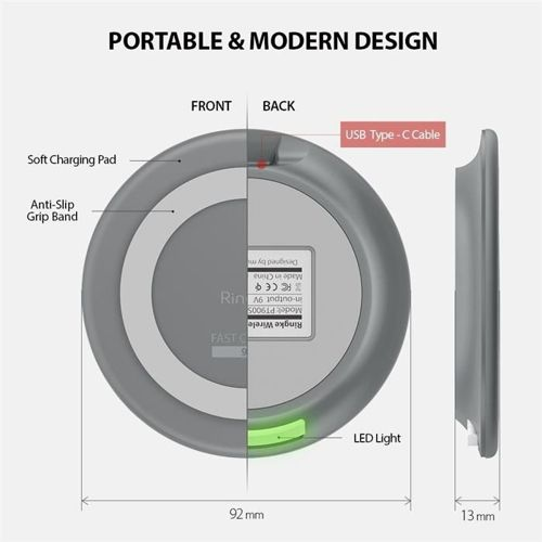 RINGKE WIRELESS CHARGER GREY