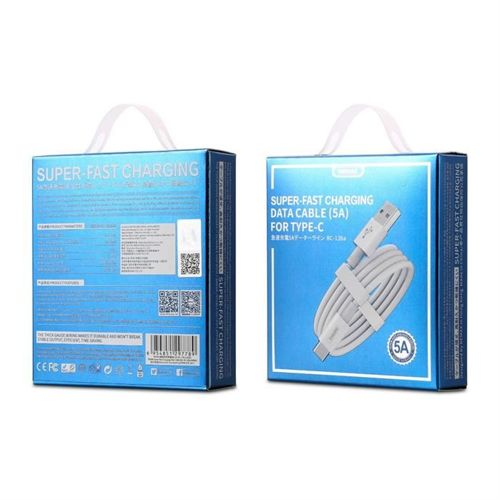 Remax kabel przewód USB / USB-C 5A Super Fast Charge QC3.0 1M biały (RC-136a white)