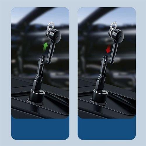 Remax mini zestaw słuchawkowy magnetyczna słuchawka Bluetooth + stacja ładująca USB biały (RB-T27 white)