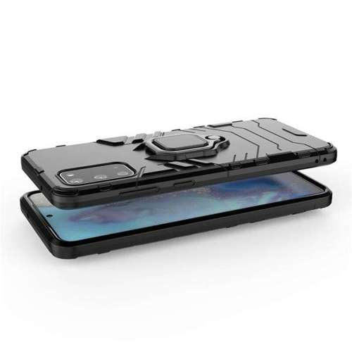 Ring Armor pancerne hybrydowe etui pokrowiec + magnetyczny uchwyt Samsung Galaxy S20 Plus czarny