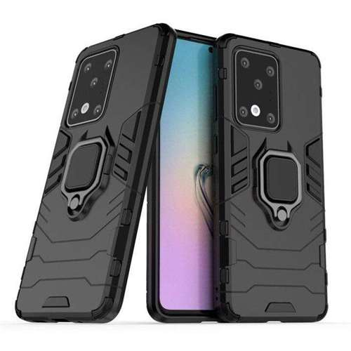 Ring Armor pancerne hybrydowe etui pokrowiec + magnetyczny uchwyt Samsung Galaxy S20 Ultra czarny