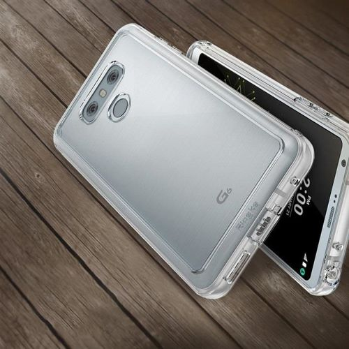 Ringke Fusion etui pokrowiec z żelową ramką LG G6 H870 różowy (FSLG0006-RPKG)