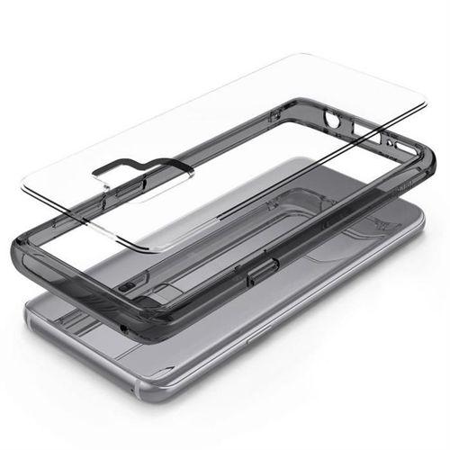 Ringke Fusion etui pokrowiec z żelową ramką Samsung Galaxy S9 G960 fioletowy (FSSG0038-RPKG)