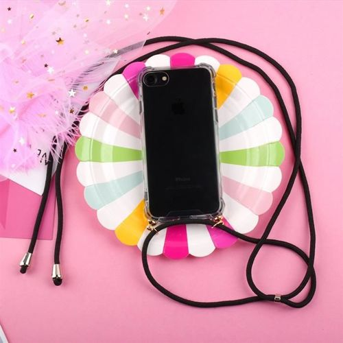 Rope case żelowe etui ze smyczą torebka smycz Huawei P20 Pro przezroczysty