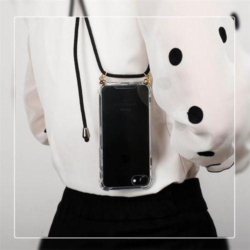 Rope case żelowe etui ze smyczą torebka smycz Samsung Galaxy S10 Plus przezroczysty