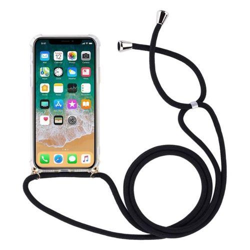 Rope case żelowe etui ze smyczą torebka smycz iPhone XR przezroczysty