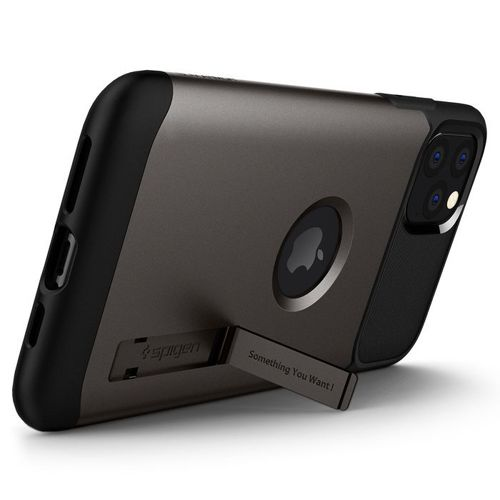 SPIGEN SLIM ARMOR IPHONE 11 PRO MAX GUNMETAL + szkło 5D UV