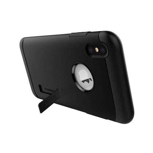 SPIGEN SLIM ARMOR IPHONE XS MAX BLACK + Szkło SPIGEN FC