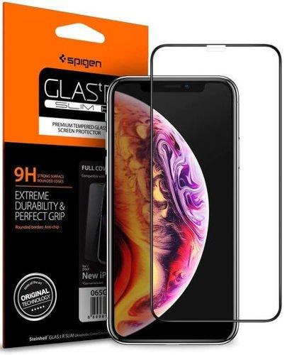 SPIGEN Slim Armor iPhone XR black + Szkło SPIGEN FC
