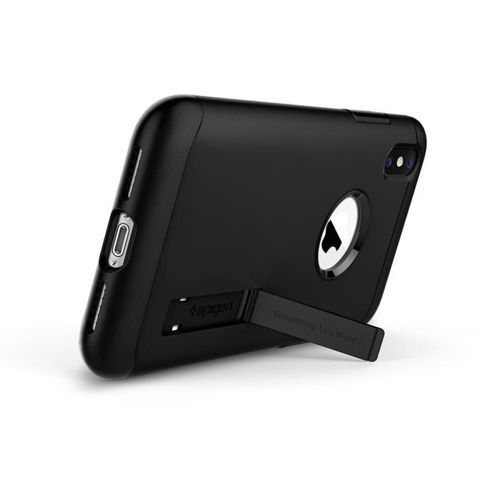 SPIGEN Slim Armor iPhone XS black+ Folia 3MK FG
