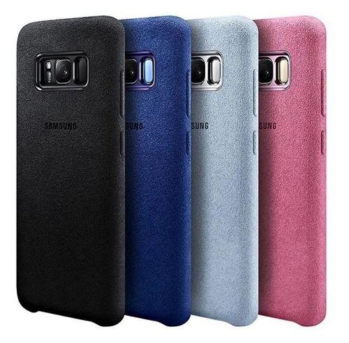 Samsung Alcantara Cover stylowe etui pokrowiec Samsung Galaxy S9 Plus G965 czerwony (EF-XG965AREGWW)