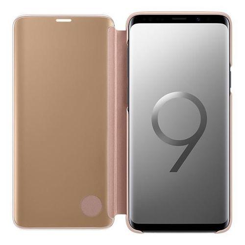 Samsung Clear View Standing Cover futerał etui z inteligentną klapką Samsung Galaxy S9 Plus G965 złoty (EF-ZG965CFEGWW)