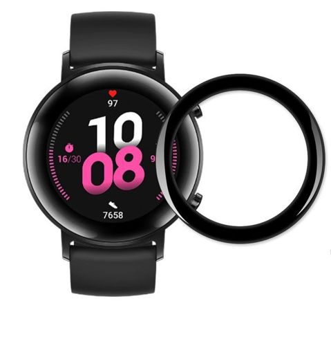 Szkło Hybrydowe FULL GLUE 5D do Huawei Watch GT 2 42mm czarny