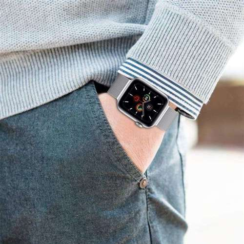 TECH-PROTECT MILANESE opaska pasek bransoleta APPLE WATCH 1/2 (42MM) SILVER