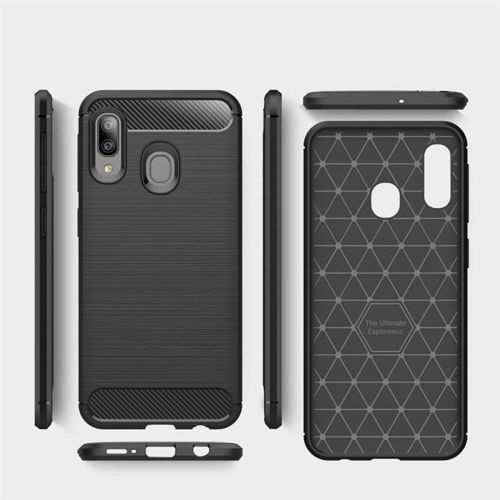 TECH-PROTECT etui TPUCARBON GALAXY A10 BLACK