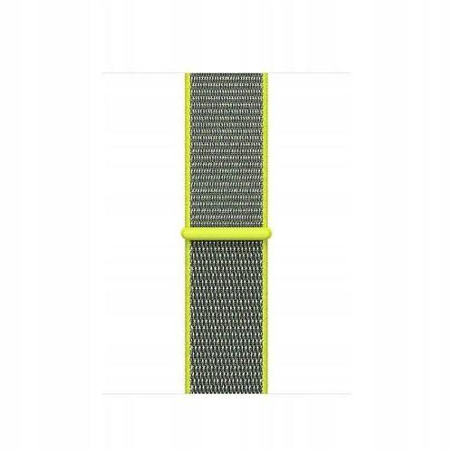 TECH-PROTECT opaska pasek bransoleta NYLON APPLE WATCH 1/2/3 (42MM) LIME/GREY