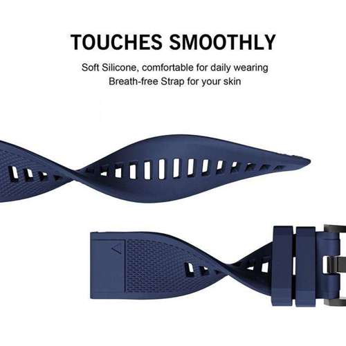 TECH-PROTECT opaska pasek bransoleta SMOOTH GARMIN FENIX 3/5X/3HR/5X PLUS/6X/6X PRO NAVY BLUE