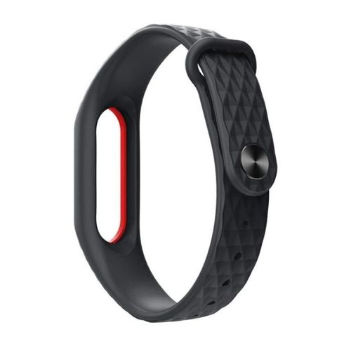 TECH-PROTECT opaska pasek bransoleta SMOOTH XIAOMI MI BAND 2 BLACK/RED