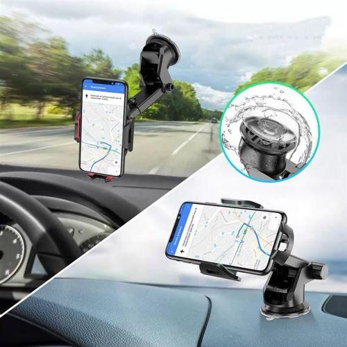 TECH-PROTECT uniwersalny uchwyt samochodowy na deskę lub szybę BLACK