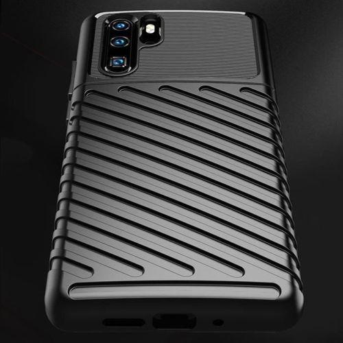 Thunder Case elastyczne pancerne etui pokrowiec Huawei P30 Pro czarny