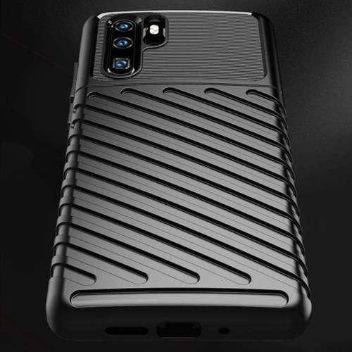 Thunder Case elastyczne pancerne etui pokrowiec Huawei P30 Pro niebieski