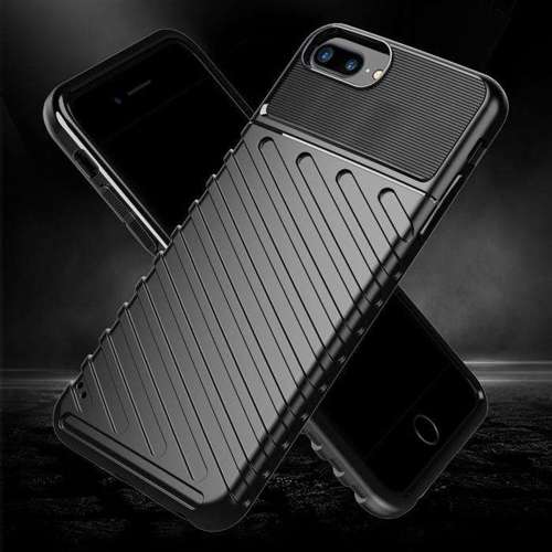 Thunder Case elastyczne pancerne etui pokrowiec iPhone 8 Plus / iPhone 7 Plus niebieski