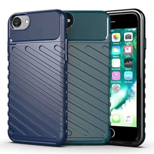Thunder Case elastyczne pancerne etui pokrowiec iPhone SE 2020 / iPhone 8 / iPhone 7 czarny